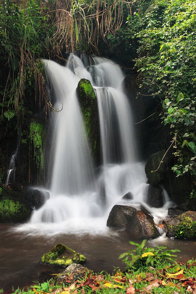 Waterfall at Bouroukou (1350m high) at the feet of the Manengouba heights, Littoral, Cameroon.
