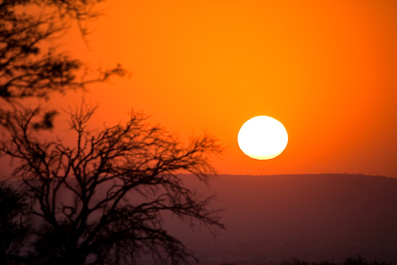 Sunrise at Kruger NP, Crocodile gate, South Africa.