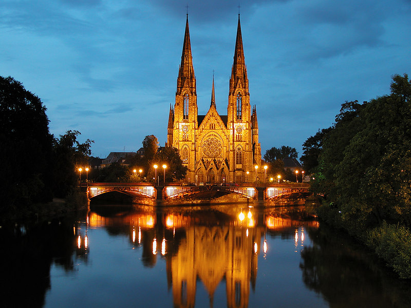 Saint-Paul church erected in 1897, Strasbourg, France.