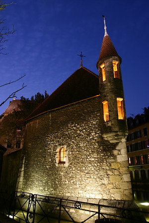 Isle Palace, historical center of Annecy, France.