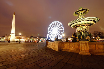 The Concorde square, Paris, France.